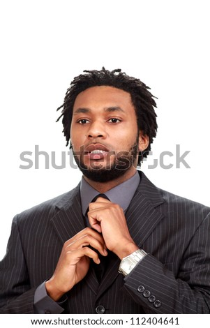 Business man in a fancy suit - stock photo