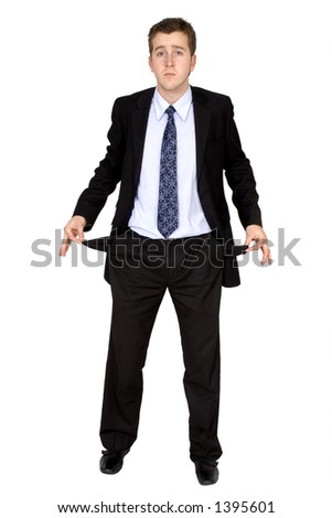 business man in bankrupt - stock photo