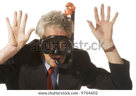 business man in heavy stress situation - stock photo