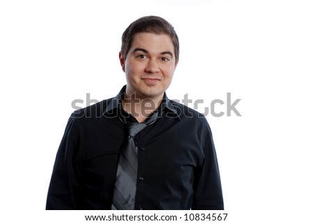 Business man in tie smiling