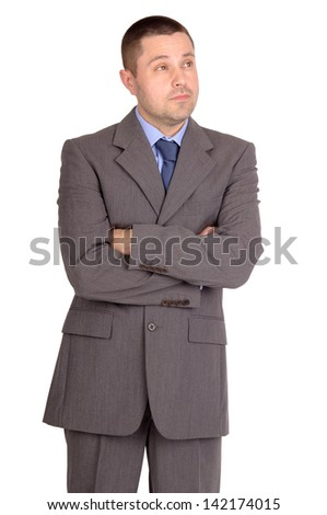 business man isolated in white
