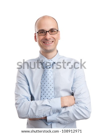 business man isolated on white background - stock photo