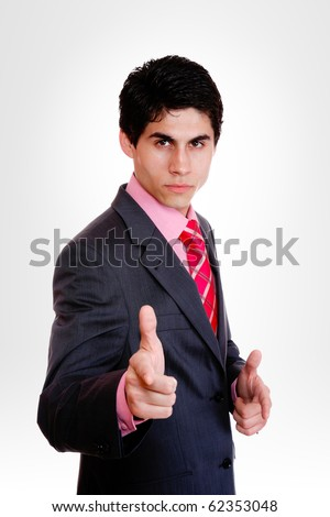 business man isolated over gray  background