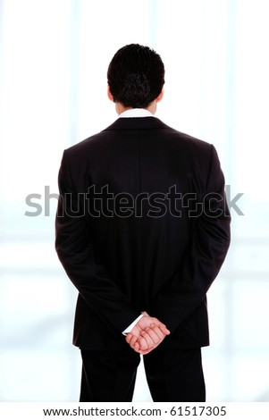 business man isolated over white background - stock photo