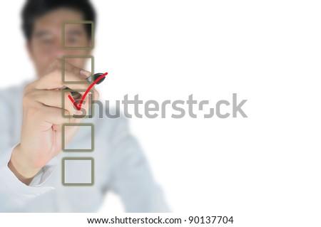 business man make a choice - stock photo