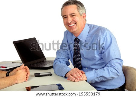 Business man meeting with someone - stock photo