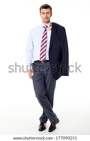 business man on a white background