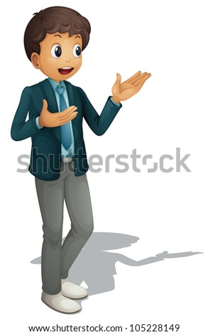 Business man on a white background - EPS VECTOR format also available in my portfolio. - stock photo