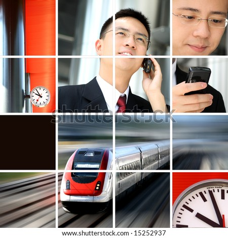 Business man on the move or traveling. - stock photo