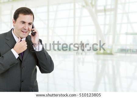 business man on the phone at the office