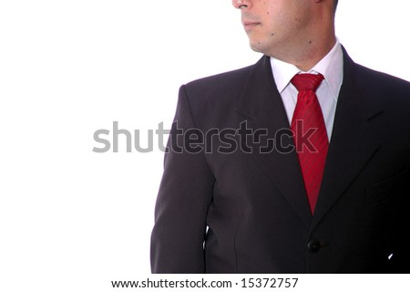 business man on the white background - stock photo