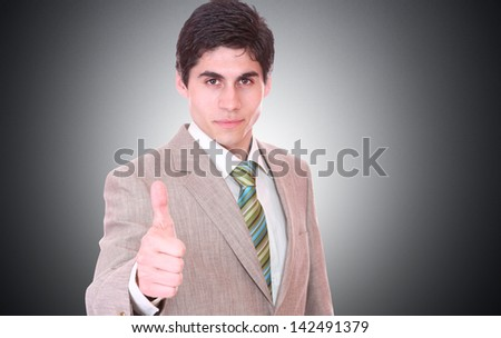 Business man over light gray background - stock photo