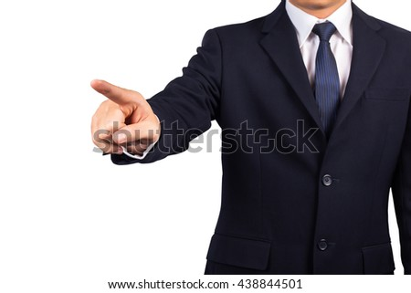 Business man point on  - stock photo