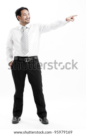 business man pointing - stock photo