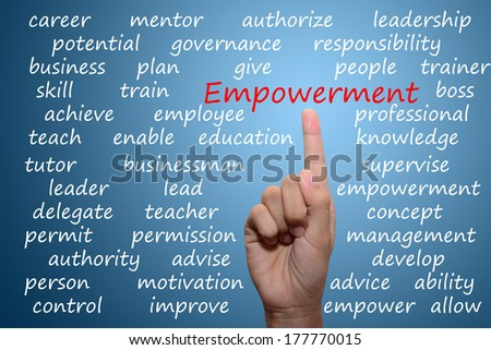 business man pointing empowerment concept