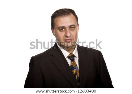 business man portrait in a white background