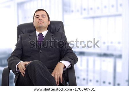 Business man portrait in office - stock photo
