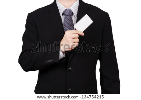 business man portrait isolated on white - stock photo