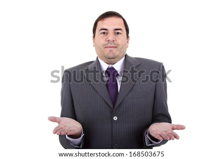 business man portrait on a white background - stock photo