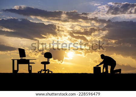 business man ready to run to success - stock photo