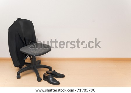 Business man's holiday - stock photo