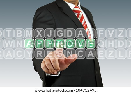 Business man select approve - stock photo
