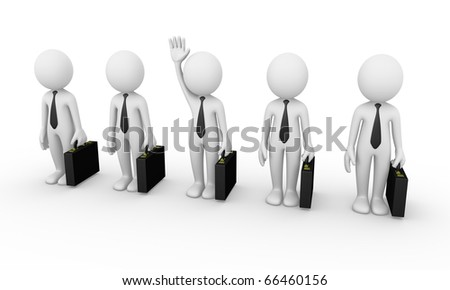 Business man selection - stock photo