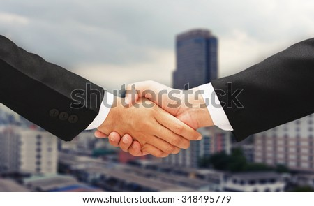 business man shake hand