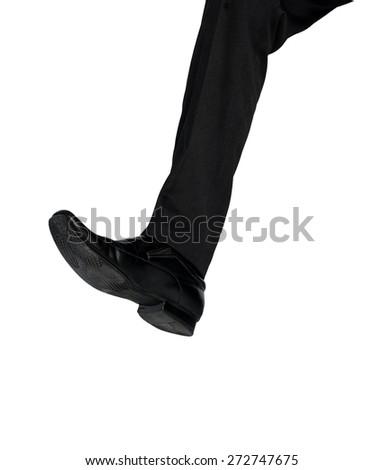 Business man shoe crush something - stock photo