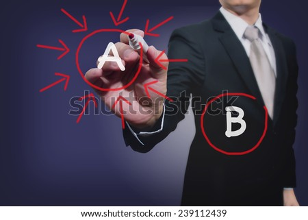 business man shoot option A  - stock photo