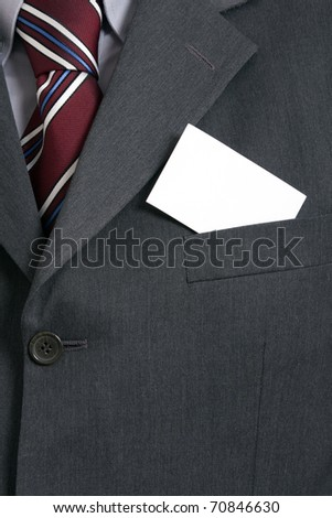 business man showing his business card - stock photo