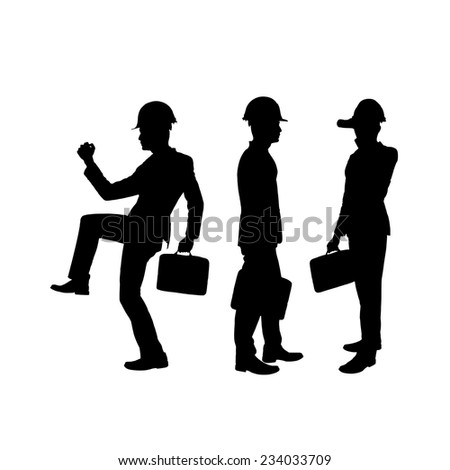 Business man silhouettes.  - stock photo