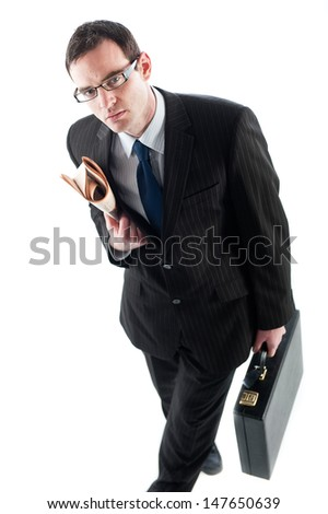 Business man suited up and ready for work - stock photo