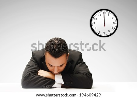 business man taking a nap  - stock photo