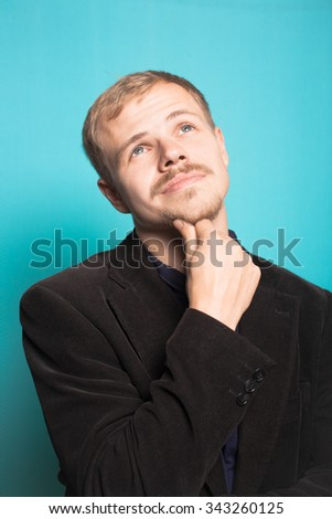 business man thinking about the plans - stock photo