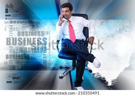 Business man thinking new idea