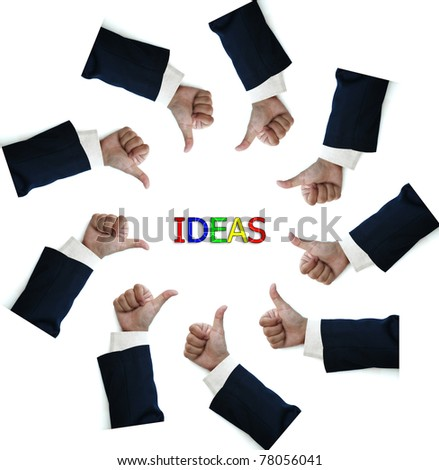 business man thumb up isolated on white background