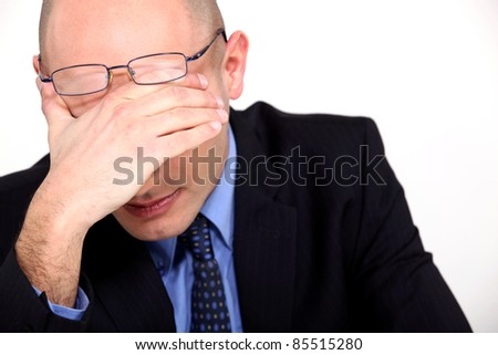 Business man under pressure - stock photo