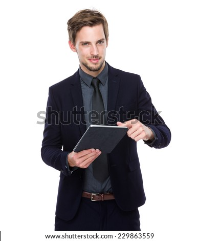 Business man use of tablet