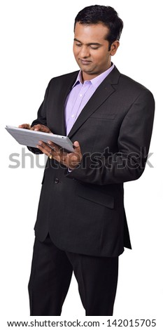 business man using digital tablet computer