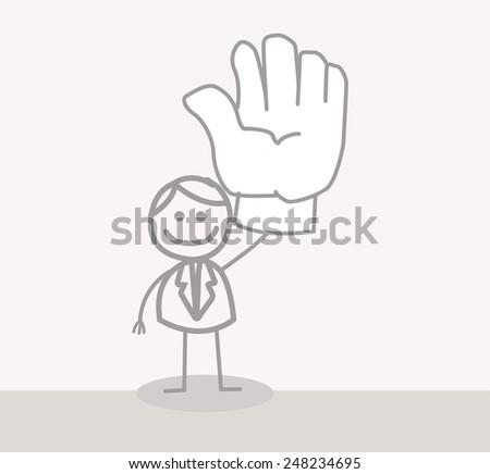 Business Man Volunteer Hand - stock photo