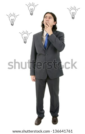 business man whith great ideas - stock photo