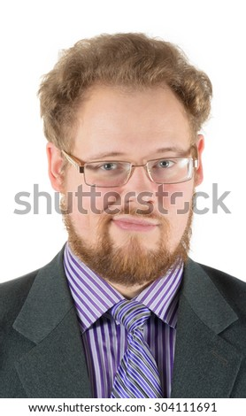 business man with a grin - stock photo