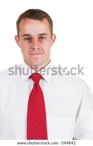 Business man with a red tie