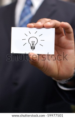 Business man with an idea - stock photo