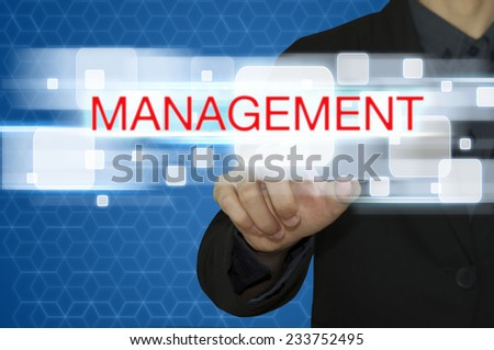 business man with management concept. - stock photo