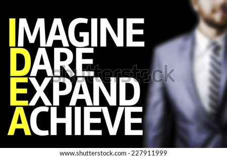 Business man with the Acronyms Idea in a concept image - stock photo