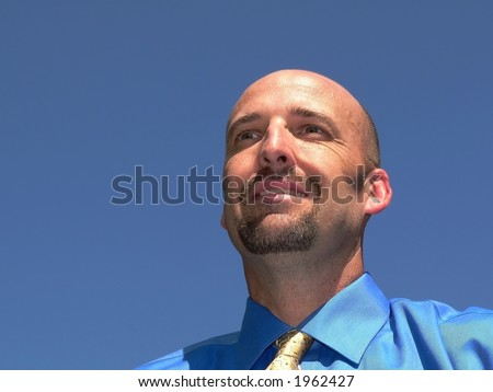 Business Man with Vision - stock photo