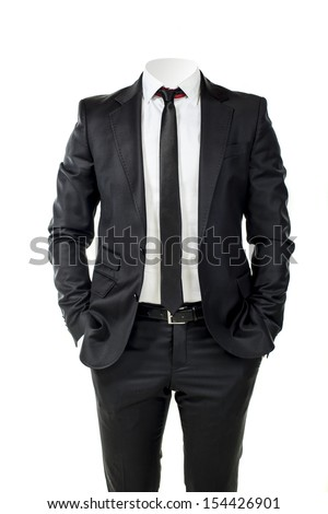 business man without head  - stock photo