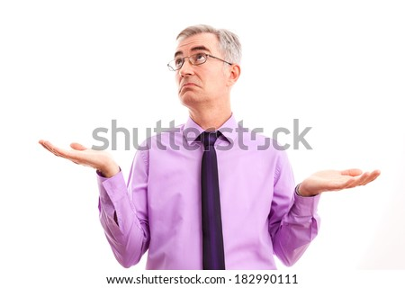 Business man without ideas - stock photo